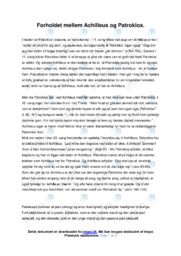 Forholdet mellem Achilleus og Patroklos | 10 i karakter