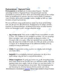 Psykologi | Noter | Over 20 sider