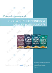 Orkla Confectionery and Snacks Danmark | VØ | 10 i karakter