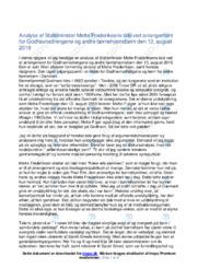 Analyse af Statsminister Mette Frederiksens tale ved Godhavnsdrengene | 10 i karakter
