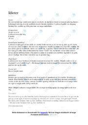 Analyse af Idioter af Katinka | Dansk noter