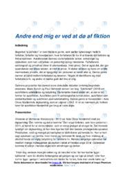 Autofiktion | Asta Olivia Nordenhofs digtsamling