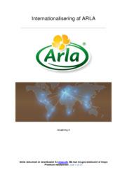 Internationalisering af ARLA   Afsætning   12 i karakter