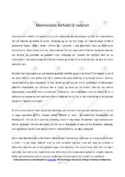 Menneskets forhold til naturen | Biologi | Noter