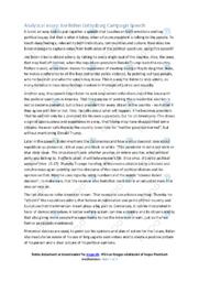 Joe Biden Gettysburg Speech | Analytical essay