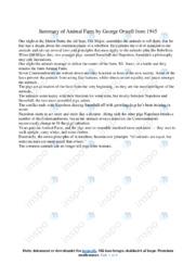 'Animal Farm'   Summary and Analysis   12 i karakter