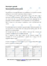 Deskriptiv statistik   Emneopgave   12 i karakter