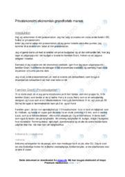 Privatøkonomi økonomisk grundforløb manus | VØ