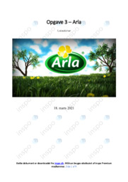 Arla | Internationalisering | 10 i karakter