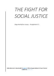 Social Justice   Essay   10 i karakter