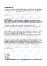 'Child labor' | Analytical essay | 10 i karakter