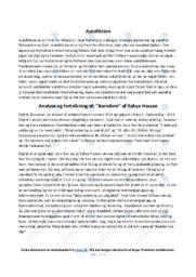 Barndom | Analyse | Yahya Hassan | 10 i Karakter