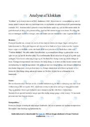 Klokken | Analyse | H.C. Andersen | 10 i Karakter