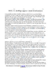 Kronik | Analyse | Rikke Henriksen | 10 i Karakter