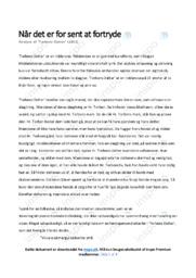 Torbens Datter | Analyse | Riddervise | 10 i Karakter