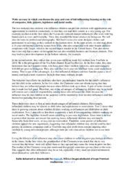 Kid influencing | Analytical essay | 10 i karakter