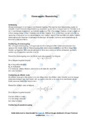 Finansiering | Matematik | Noter