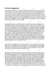 La Puerta   Analytical essay