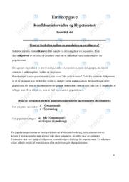 Konfidensintervaller og Hypotesetest | Emneopgave
