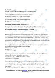 Rente- og annuitetsregning | Emneopgave | 12 i karakter