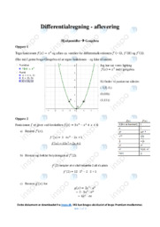 Differentialregning | Opgaver