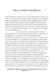 Tale   Analyse   Mette Frederiksen   12 i Karakter