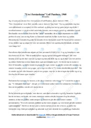 Uro i forstæderne | Analyse | Leif Panduro | 10 i Karakter