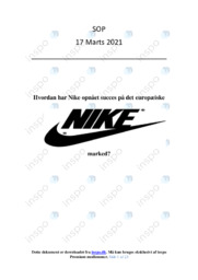 Nikes marketingmix | SOP | 10 i karakter
