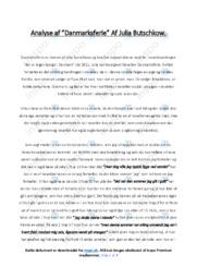 Danmarksferie   Analyse   Julia Butschkow   10 i Karakter