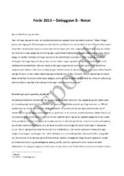 Forår 2013 – Delopgave B – Samfundsfag – Helle Thorning Schmidt