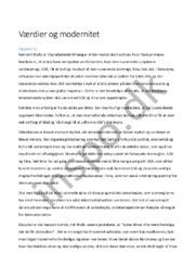 Værdier og modernitet  Samfundsfag