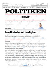 Loyalitet eller retfærdighed | Artikel | Dansk eksamen