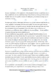 Skrubtudsen | Analyse | H.C Andersen | 10 i Karakter