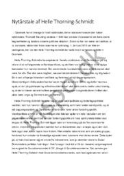 Analyse af Nytårstale af Helle Thorning-Schmidt