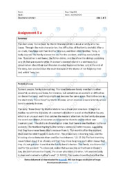 'Bone Deep' | Analytical essay | 10 i karakter