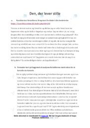 Den, der lever stille | Analyse | Leonora Christina Skov