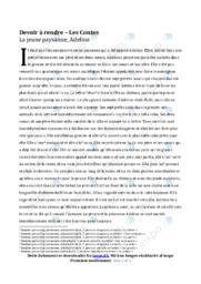 Devoir à rendre Les Contes | Franskopgave | 10 i karakter