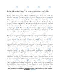'Arrangement in Black and White' | Analytical essay