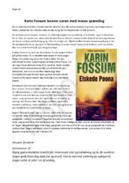 Elskede Poona – Karin Fossum | Boganmeldelse