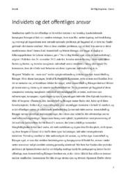 Eksamenssæt 28 maj 2014 – Kronik Individets og det offentliges ansvar