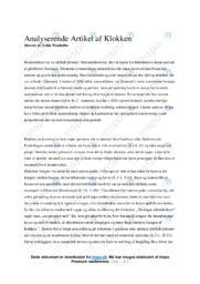 Klokken | Analyse | H. C. Andersen | 10 i Karakter