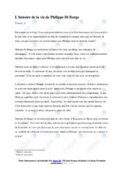 L'histoire de la vie de Philippe Di Borgo   Fransk