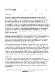 BoConcept   Afsætningsopgave   12 i karakter