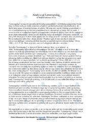 Lønningsdag | Analyse | Martin Andersen Nexø | 10 i Karakter
