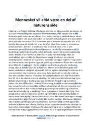 Naturen | Dansk Essay | 12 i Karakter