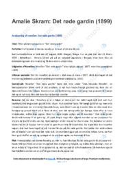 Det røde gardin   Analyse   Amalie Skram   10 i Karakter