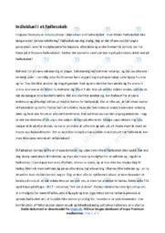 Individuel i et fællesskab | Dansk Essay  | 10 i Karakter