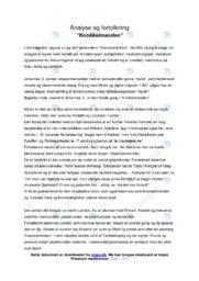 Knokkelmanden | Analyse | Johannes V. Jensen | 10 i Karakter