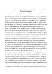 Coronaens mange ord | Dansk Essay | 12 i Karakter