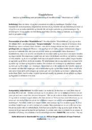 Hundelufteren | Analyse | Jens Blendstrup | 12 i Karakter